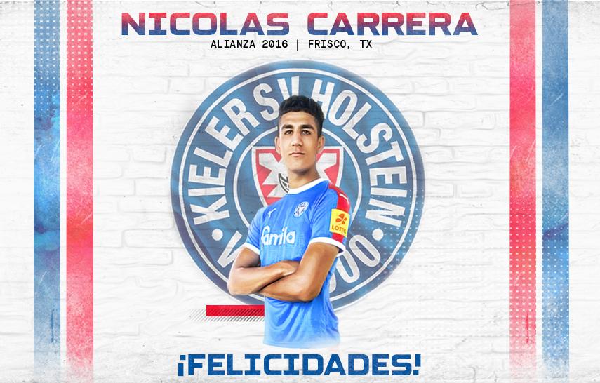 Nico Carrera firma con el Holstein Kiel