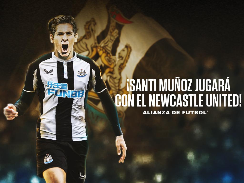 Santi Muñoz jugará con el Newcastle United